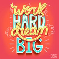 Mi Proyecto del curso: WORK HARD. Un progetto di Illustrazione , e Lettering di Yuseph Zapata - 15.09.2020