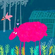 Sheep love. A GIF Creation on Procreate course. Un proyecto de Animación de anna - 20.09.2020
