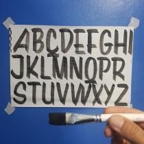 Meu projeto do curso: Introdução à pintura de letreiros. A T, and pograph project by wcarmelo - 05.08.2020
