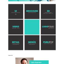 Mi Proyecto del curso: Mi portafolio Web -  Piola Creaiva - Tulio Guerrero. Un proyecto de Diseño gráfico de Tulio Guerrero - 22.09.2020