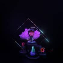 Mi Proyecto del curso: Técnicas de iluminación con Cinema 4D. Um projeto de Concept Art e 3D Design de Marianalr - 23.09.2020