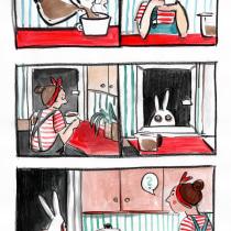 Short novel about coffee monster. Um projeto de Ilustração de Kasia Rożek - 24.09.2020