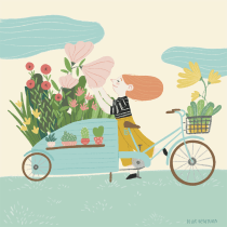 Gif Vendedora de Flores. Un proyecto de Ilustración de Núria Ventura - 24.09.2020