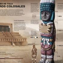 Atlantes de Tula, Guerreros Colosales. A Illustration, Editorial Design, Graphic Design & Infographics project by Maria Dolores Aguilar - 09.30.2020