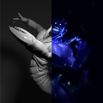 The Mighty Kraken | Sculpture. Un progetto di 3D, Character Design, Graphic Design, Design interattivo, Lighting Design, Postproduzione, Scultura, Modellazione 3D, Arte concettuale, Character design 3D , e Design digitale di Mauricio López González - 06.10.2020