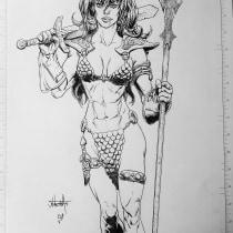 Mi Proyecto del curso: Diseño de personajes femeninos para cómics. Un proyecto de Cómic de Jhonesbas Craneo - 14.10.2020