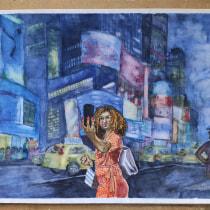 Mi Proyecto del curso: Ilustración con acuarela: recrea tus escenas más icónicas. Un proyecto de Ilustración de mannekenpis2 - 15.10.2020