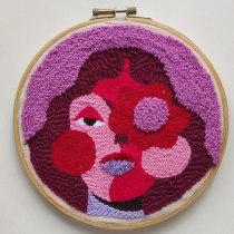My project in Punch Needle XL Embroidery course. Un progetto di Illustrazione, Ricamo , e Tessuto di Brunna Mancuso - 26.10.2020