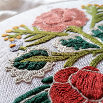 My project in Embroidery Technique with the Stem Stitch course - from Italy. Un proyecto de Bordado de Miriam Cozzi - 03.11.2020