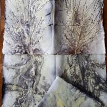 Eco Prints on Indian Rag Paper. Un proyecto de Papercraft y Estampación de romanatoson - 07.11.2020