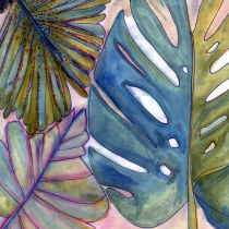 My project in Botanical Watercolor for Patterns course. A Watercolor Painting project by arancillo.lea - 11.28.2020