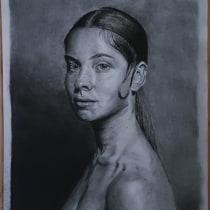 Mi Proyecto del curso: Retrato realista al carboncillo. Um projeto de Desenho de Retrato de abelrubel - 08.12.2020