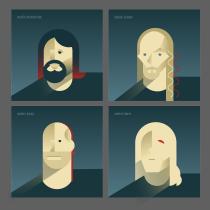 Minimalist Geometric Portrait: first try. Un projet de Illustration numérique de Julia Hoyle - 10.12.2020