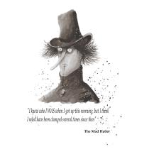 The Mad Hatter - Meu projeto do curso: Ilustração em nanquim com influência japonesa. Um projeto de Design de personagens, Desenho artístico e Ilustração com tinta de Ricardo Lavoura - 15.12.2020