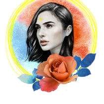 Mi Proyecto del curso: Retrato ilustrado con Photoshop. A Illustration project by Ana Duque - 15.12.2020
