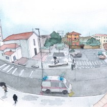 My project in Urban Sketching: Express Your World in a New Perspective course. Un proyecto de Pintura a la acuarela de borrons - 15.12.2020