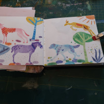My project in Creative Sketchbooks for Illustration Projects course. Um projeto de Ilustração, Ilustração infantil e Sketchbook de ebrenninkmeijer - 25.12.2020