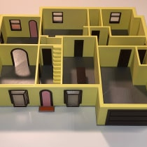 Mein Kursprojekt: 3-D-Design und Druck von architektonischen Modellen. Um projeto de Modelagem 3D e 3D Design de Björn Deutsch - 28.12.2020