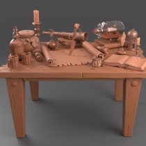 Mi proyecto Bodegón pirata. Un proyecto de Modelado 3D y Diseño 3D de Oscar Martinez - 04.01.2021