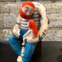 Mi Proyecto del curso: Needle felting: creación de personajes con lana y aguja. A Skulptur project by Jenny Pérez - 05.01.2021