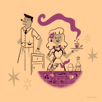 Meu projeto do curso: Design de personagens estilo cartoon com Procreate. Un projet de Illustration de Ana Lavorato - 16.01.2021