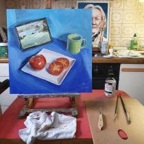 Mein Kursprojekt: Ölmalerei von Grund auf . Un projet de Peinture à l'huile de g.dressel - 19.01.2021