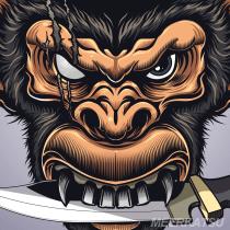 My Ape project in Vector Art: Reflecting Your Style with Illustrator course. Un projet de Illustration numérique de Seymour Yang - 01.02.2021