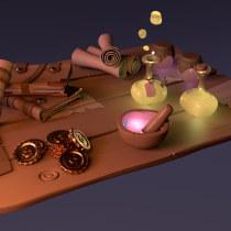 Mi Proyecto del curso: Modelado cartoon de bodegones con Maya. Un proyecto de 3D de yiyun - 01.02.2021