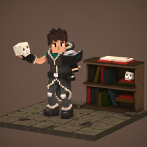 Voxel Art - Mage Character. A 3D Animation, 3D Character Design, and Design 3D project by José Luis Aguilera Luzania - 02.02.2021