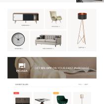 Proyecto Final - Picasa Home Furniture. Um projeto de UI / UX, Design gráfico e Web design de Tato H. Espinoza - 10.02.2021