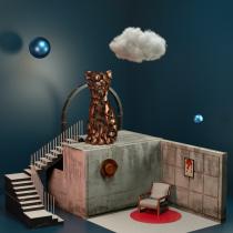 Mi Proyecto del curso: El gato. A 3-D project by Jony Chorén - 20.02.2021