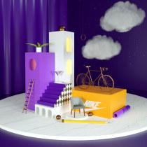Mi Proyecto del curso: Creación de composiciones 3D en Cinema 4D. Un progetto di 3D di gusoberanes - 21.02.2021