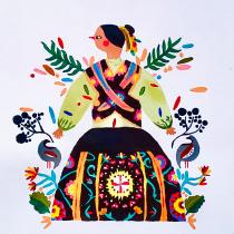 Mi Proyecto del curso: Introducción a la ilustración floral con acrílico. Un proyecto de Ilustración de Silvana Hernandez - 23.02.2021