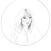 My project in Realistic Portrait Embroidery course. Un projet de Illustration de portrait de Maya Calica Collins - 25.02.2021
