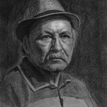 Mi Proyecto final. Retrato al carboncillo de mi padre. Um projeto de Artes plásticas de Carlos Pereyra - 26.02.2021