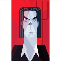 Nick Cave. Un projet de Illustration, Illustration vectorielle, Illustration de portrait , et Dessin numérique de lynkalogirou - 27.02.2021