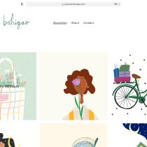 Mi Proyecto del curso: Creación de una página web en Squarespace. Un proyecto de Diseño, Ilustración, Ilustración vectorial, Estampación, Ilustración textil e Ilustración editorial de guiomarbohigasstudio - 28.02.2021
