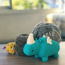 Mi pequeño rinoceronte. Un proyecto de Crochet de Hans Schlechter - 21.02.2021