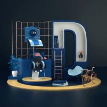 Mi Proyecto del curso; Creación de composiciones 3D en Cinema 4D. Un progetto di 3D , e Direzione artistica di Marianalr - 02.03.2021