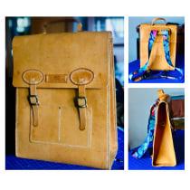 Mi Proyecto del curso: Mochila plus de cuero artesanales . Um projeto de Artesanato de Martha Vanessa España Alava - 08.03.2021