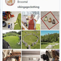 Brand for Viking Age Clothing on Instagram. A Digitales Marketing project by Susanna Broomé - 09.03.2021