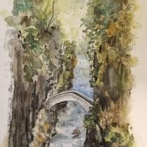 Mein Kursprojekt: Natürliche Aquarelllandschaften. Un progetto di Belle arti, Pittura , e Pittura ad acquerello di Chri Ste - 12.03.2021