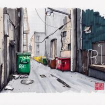 Mein Kursprojekt: Architektonische Zeichnung für städtische Illustrationen. A Street Art, and Drawing project by Hanspeter Stünzi - 03.13.2021