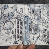 Meu projeto do curso: A arte de desenhar: transforme seus rabiscos em arte. Un projet de Illustration éditoriale de Aurélio Rauber - 18.03.2021