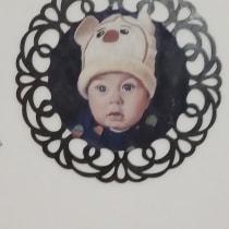 Meu projeto do curso: Retrato realista a óleo: detalhes e expressão de um bebe. Un progetto di Pittura ad olio di Jean Rodrigues - 22.03.2021