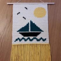 Meu projeto do curso: Intarsia crochê: teça suas tapeçarias. A Crochet project by aisabel.francisco - 03.23.2021