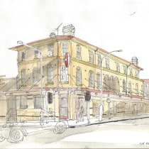 My project in Architectural Sketching for Urban Illustrations course. A Sketching, and Architectural illustration project by brecko - 04.04.2021