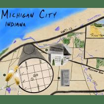 Michigan City, Indiana Weekend Getaway. Un proyecto de Ilustración digital, Dibujo digital y Pintura digital de mbanys - 05.04.2021