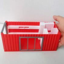 Maqueta de Container para oficina Work from Home. Um projeto de 3D, Arquitetura, Arquitetura de interiores, Decoração de interiores e 3D Design de Marco Hernández - 08.03.2021