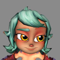 Mi Proyecto del curso: Rigging: articulación facial de un personaje 3D. A 3D Animation project by frod1115 - 04.08.2021